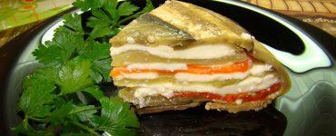 Овощной террин из баклажан